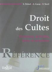 Droit des cultes. personnes, activites, biens et structures - 1ere ed. - Intérieur - Format classique