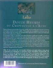 Douze Heures Du Crepuscule A L'Aube - 4ème de couverture - Format classique