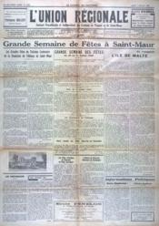 Union Regionale (L') N°1036 du 07/07/1938 - Couverture - Format classique