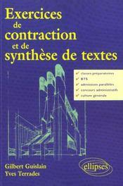 Exercices De Contraction Et De Synthese De Textes - Intérieur - Format classique