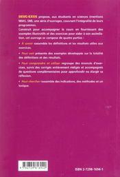 Mathématiques ; sciences et technologies ; 1re année d'université - 4ème de couverture - Format classique