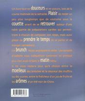 Tendres brunchs ; 60 idees plaisir - 4ème de couverture - Format classique