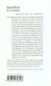 Sans-Peur Le Corsaire - 4ème de couverture - Format classique