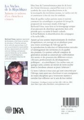 Les vaches de la république ; saisons et raisons d'un chercheur citoyen - 4ème de couverture - Format classique