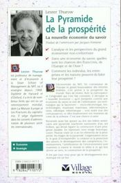 La pyramide de la posperite ; la nouvelle economie du savoir - 4ème de couverture - Format classique