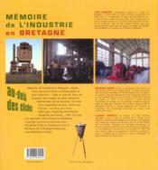 Memoire de l'industrie en bretagne - 4ème de couverture - Format classique