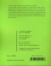 Sylvain, l'enfance des forêts ; comédie féerique - 4ème de couverture - Format classique