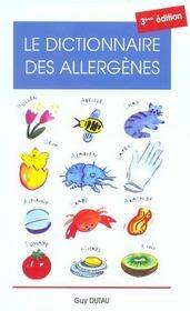 Dict.Des Allergenes 3eme - Intérieur - Format classique