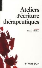 Ateliers d'écriture thérapeutique - Couverture - Format classique