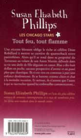 Les chicago stars t.7 ; tout feu, tout flamme - 4ème de couverture - Format classique