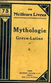 Mythologie Greco Latine - Tome 2 - Couverture - Format classique