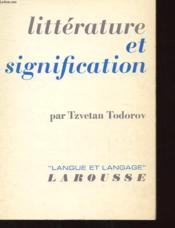 Litterature Et Signification - Couverture - Format classique
