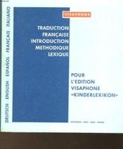 Traduction Francaise Introduction Methodique Lexique - Couverture - Format classique