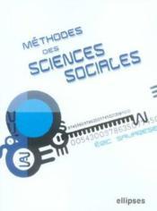 Methodes Des Sciences Sociales - Couverture - Format classique