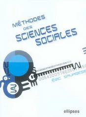 Methodes Des Sciences Sociales - Intérieur - Format classique