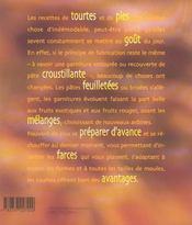 Tourtes, feuilletes et autres pies - 4ème de couverture - Format classique