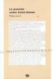 La Passion Selon Saint-Simon - Intérieur - Format classique