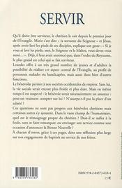Servir ; colloque des bénévoles à Lourdes - 4ème de couverture - Format classique