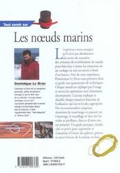 Tout Savoir Sur Les Noeuds Marins - 4ème de couverture - Format classique