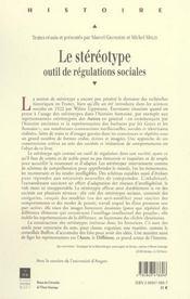 Stereotype Construction Et Diffusion De L Antiquite A Nos Jours - 4ème de couverture - Format classique