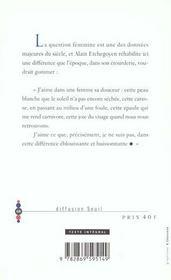 Eloge De La Feminite - 4ème de couverture - Format classique