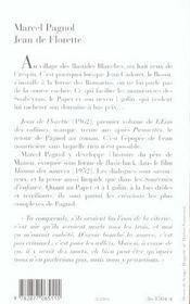 Jean de Florette - 4ème de couverture - Format classique
