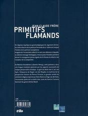 Primitifs flamands - 4ème de couverture - Format classique