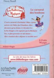 Les ballerines magiques t.20 ; le carnaval des bonbons - 4ème de couverture - Format classique