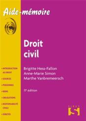Droit civil (11e édition) - Couverture - Format classique