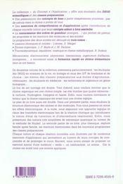 Chimie Organique Nouveaux Programmes Des Deug Scientifiques Et Classes Preparatoires - 4ème de couverture - Format classique