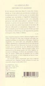 Histoire d'un Allemand ; souvenirs 1914-1933 - 4ème de couverture - Format classique