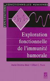 Exploration fonctionnelle de l'immunite hum - Couverture - Format classique
