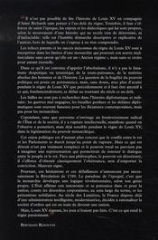 Louis XV, le mal-aimé - 4ème de couverture - Format classique