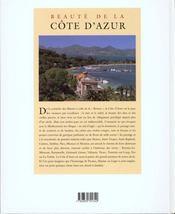 Beauté de la Côte d'Azur - 4ème de couverture - Format classique