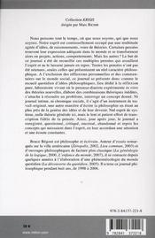Pensées privées ; journal philosophique, 1998-2006 - 4ème de couverture - Format classique