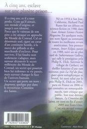 Le cimetière des saints - 4ème de couverture - Format classique