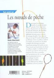 Tout Savoir Sur Les Noeuds De Peche - 4ème de couverture - Format classique
