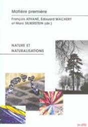 Matiere Premiere ; Nature Et Naturalisations - Couverture - Format classique