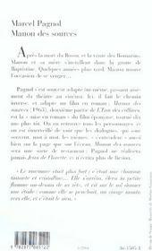 Manon des sources - 4ème de couverture - Format classique