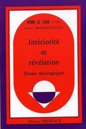 Intériorité et révélation ; essais théologiques - Couverture - Format classique
