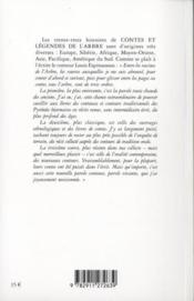 Contes et légendes de l'arbre - 4ème de couverture - Format classique