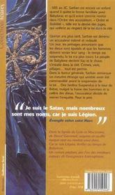 Car Je Suis Legion - 4ème de couverture - Format classique