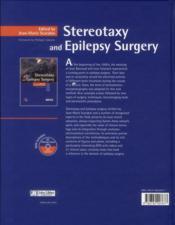 Stereotaxy and epilepsy surgery. avec dvd - 4ème de couverture - Format classique