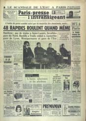 Paris Presse L'Intransigeant N°5871 du 24/10/1963 - Couverture - Format classique
