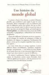 Une histoire du monde global - 4ème de couverture - Format classique