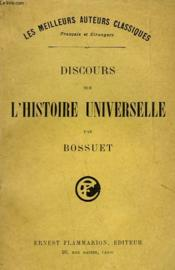 Discours Sur L'Histoire Universelle. - Couverture - Format classique