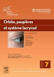 Orbite, paupières et système lacrymal - Couverture - Format classique