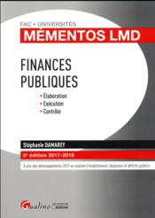 Vente  Finances publiques (édition 2017/2018)  - Damarey S. - Stephanie Damarey