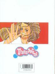 Transparent t.6 - 4ème de couverture - Format classique