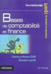 Bases de comptabilité et finance ; staps - Intérieur - Format classique
